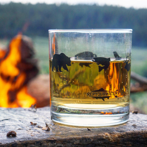 Wild Creatures Old Fashioned Glass