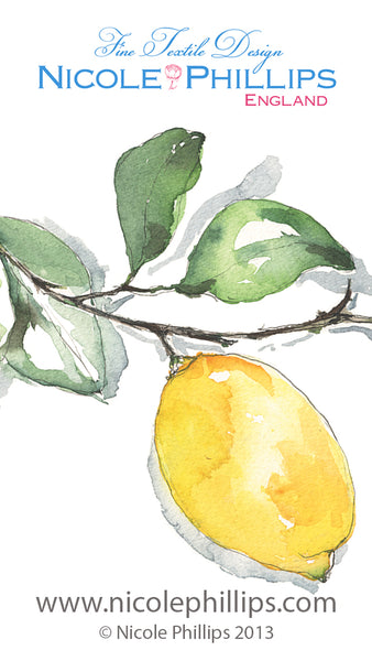 Lemon Portrait Wallpaper - Nicole Phillips England