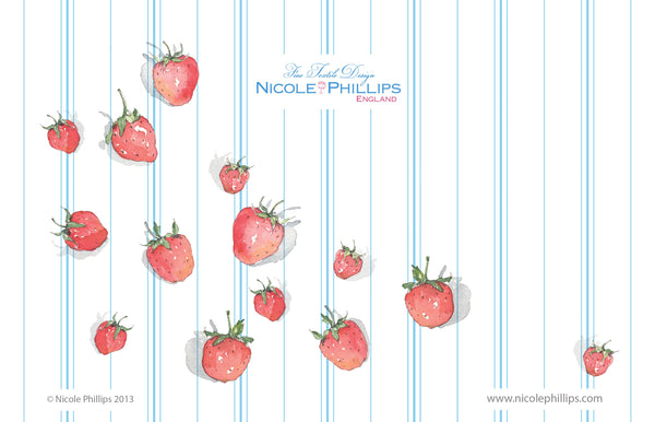 Strawberry Wallpaper - Nicole Phillips England