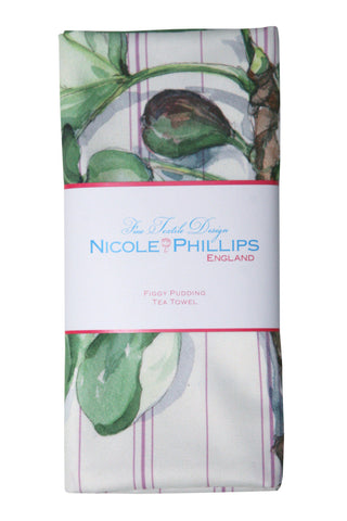 Nicole Phillips England Figgy Pudding Tea Towel British Made Country House