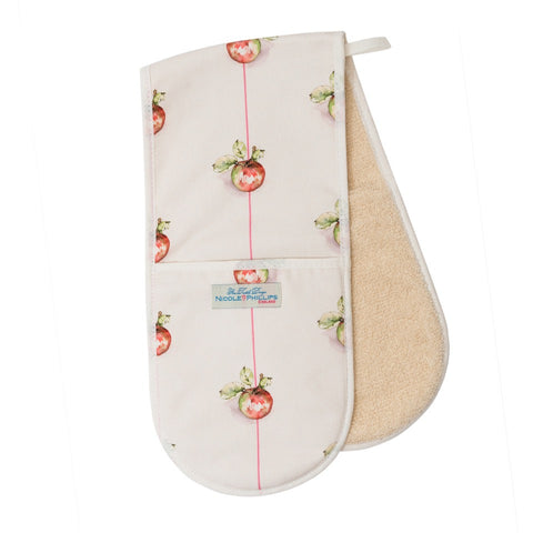 Apple on a Line Double Oven Gloves