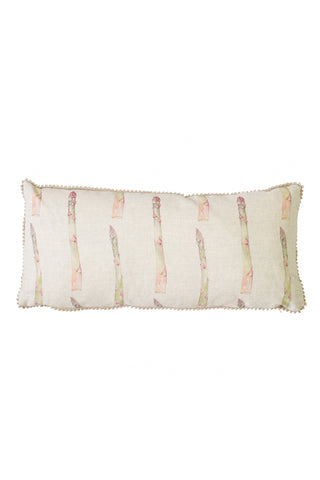 Nicole Phillips England Asparagus medium rectangle linen cushion