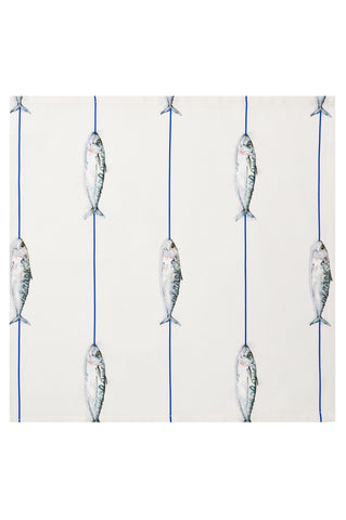 Nicole Phillips England Fish on a Line fabric by the metre