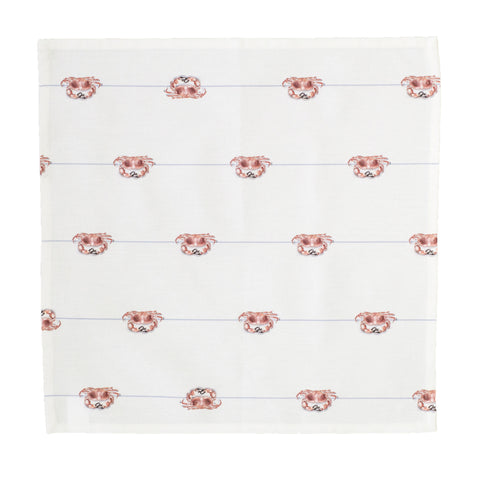Crab on a line Napkins (pack of 4)