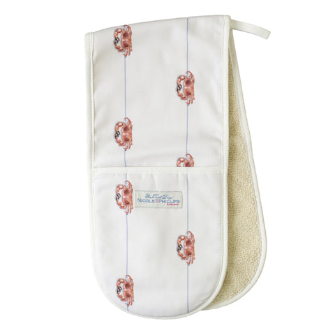 Nicole Phillips England Crab On A Line Oven Gloves