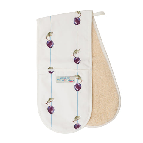 Nicole Phillips England Plum on a line double oven glove