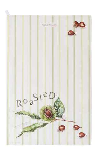 Roasted chestnut tea towel
