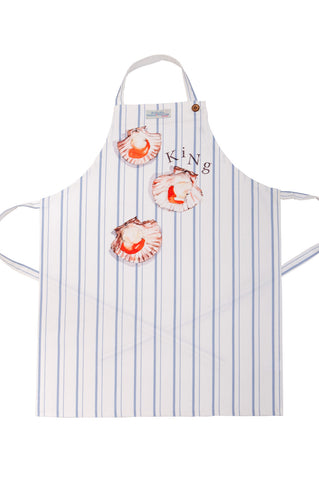 Nicole Phillips England King Scallop Apron Adult size