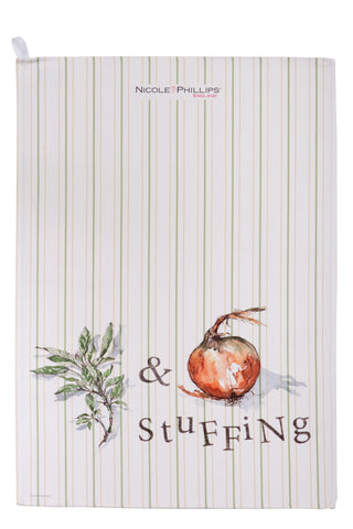 Nicole Phillips England Sage and Onion Stuffing Tea Towel