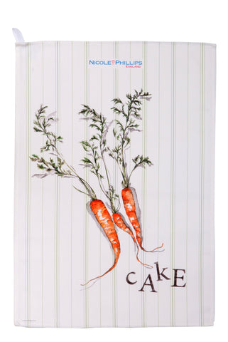 Nicole Phillips England Carrot Cake Tea Towel front
