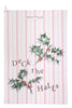 Nicole Phillips England Deck the Halls Tea Towel