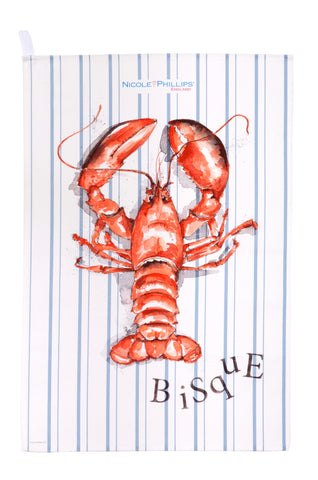 Nicole Phillips England Lobster Bisque Tea Towel front