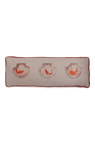 Scallops long cushion linen