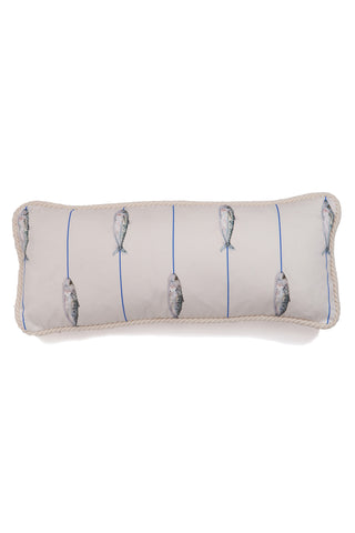Nicole Phillips England Fish on a Line medium rectangle cotton cushion