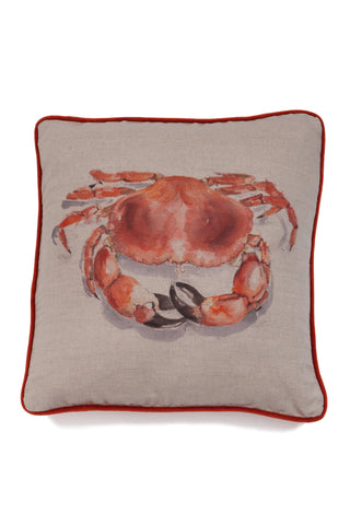 Nicole Phillips England Crab Large Square Cushion Linen