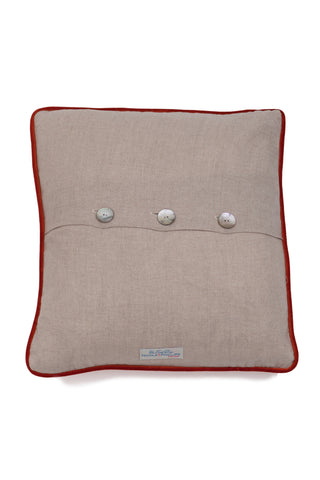 Nicole Phillips England Lobster Square Linen Cushion back