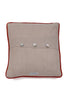Nicole Phillips England Crab Large Square Cushion Linen back