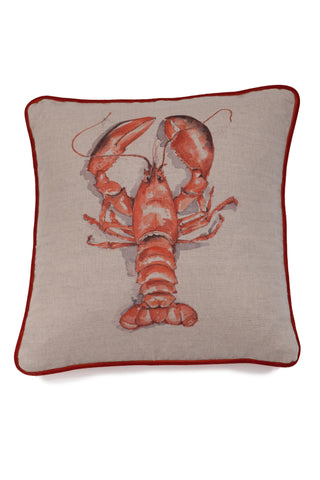 Nicole Phillips England Lobster Square Linen Cushion