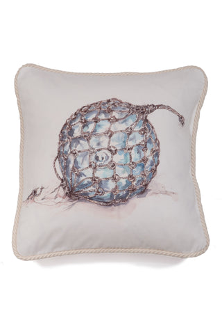 Nicole Phillips England Fisherman's Glass Float cotton large square cushion