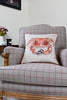 Nicole Phillips England Crab Large Square Cushion Linen lifestyle