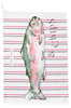 Nicole Phillips England Large Fish and Chips Tea Towel / dish cloth