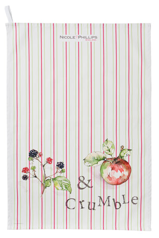 Nicole Phillips England Blackberry and Apple Crumble Tea Towel