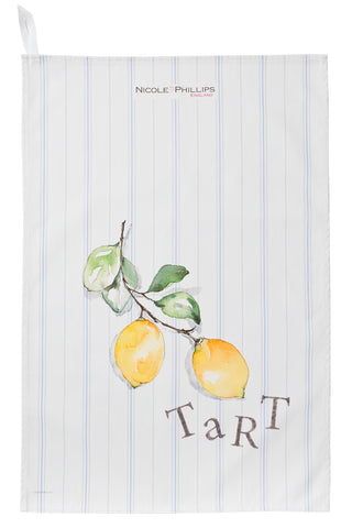 Nicole Phillips England Lemon Tart Tea Towel / dish cloth front