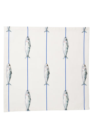 Nicole Phillips England Fish On A Line Napkins (set of 4)