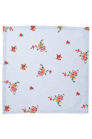 Nicole Phillips England Blue Scattered Roses Napkins (set of 4)