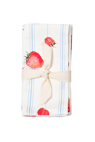 Nicole Phillips England Strawberry Napkins set of 4 packaged