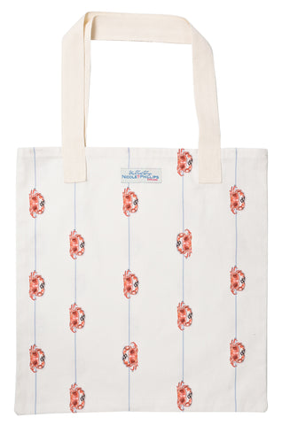 Nicole Phillips England Crab On A Line Tote Bag reusable and eco friendly