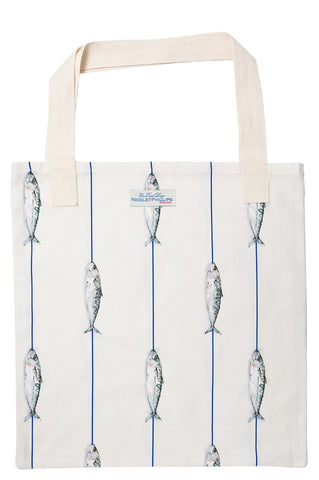 Nicole Phillips England Fish On A Line Tote Bag reusable and eco friendly