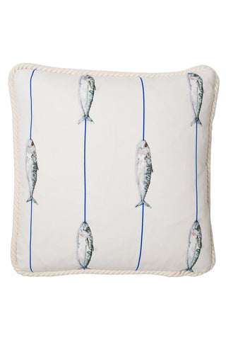 Nicole Phillips England Fish On A Line Square Cushion