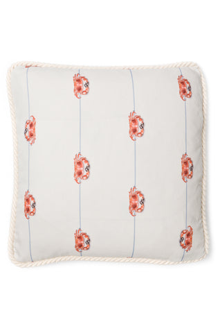 Nicole Phillips England Crab On A Line Square Cushion Cotton