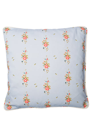 Nicole Phillips England Blue Trailing Roses Large Square Cushion front