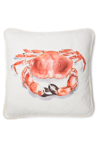 Nicole Phillips England Crab Large Square Cushion Cotton front