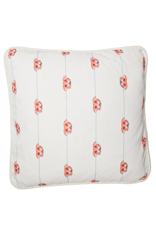 Nicole Phillips Crab On A Line Large Square Cushion Cotton front