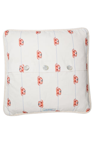Nicole Phillips Crab On A Line Large Square Cushion Cotton back