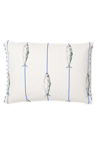 Nicole Phillips England Fish On A Line Rectangle Cushion