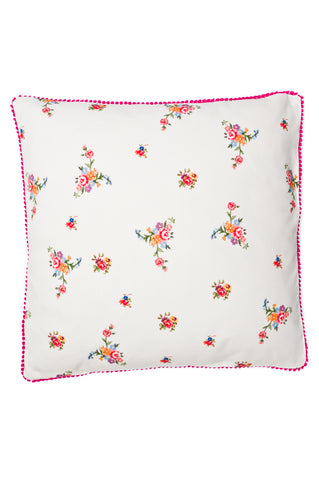Nicole Phillips England Stone Scattered Roses Large Square Cushion front