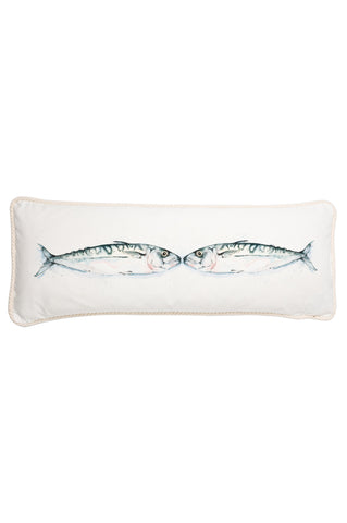 Nicole Phillip England Kissing Mackerel Long Rectangle Cushion Cotton front