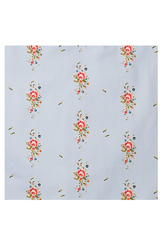Nicole Phillips England Blue Trailing Roses wipe clean oil cloth fabric