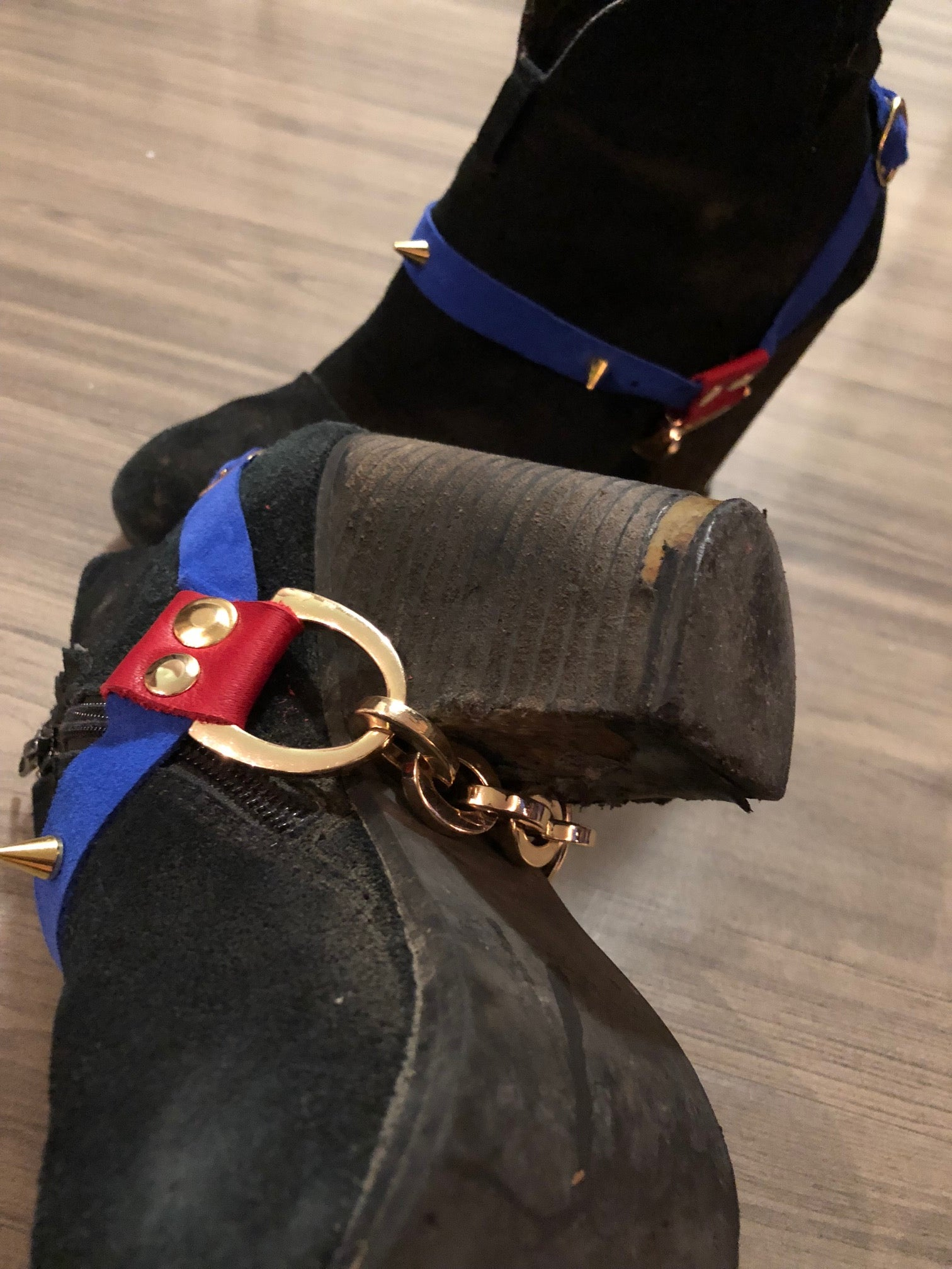 Red and Blue boot straps