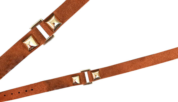 Studed link suede choker