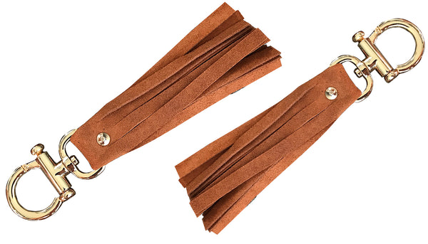 Fringes brown handmade Keychain