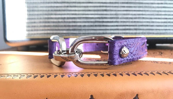Purple leather choker