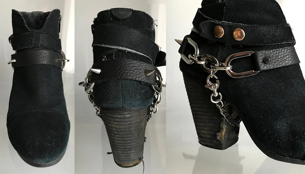 Boots strap spikes