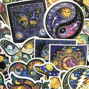 25 Piece Psychedelic Vinyl Sticker Pack