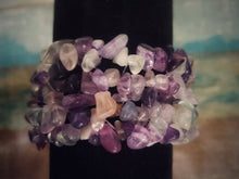Load image into Gallery viewer, Rainbow Fluorite Chip Bracelet
