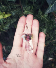 Load image into Gallery viewer, Raw Clear Quartz Wire Wrap Wands - 80mm